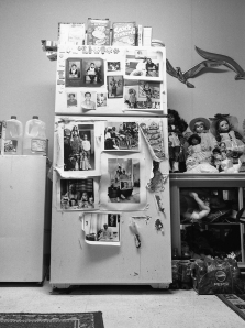 Grandma Ruby's Refrigerator Series: The Notion of Family, 2007. LaToya Ruby Frazier, American, born 1982. Gelatin silver print, 24 7/8 x 17 3/4 in. Image courtesy of Seattle Art Museum.