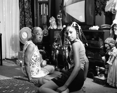 Grandma Ruby and Me Series: The Notion of Family, 2005. LaToya Ruby Frazier, American, born 1982. Gelatin silver print, 19 1/4 x 23 7/8 in.  Image courtesy of Seattle Art Museum.