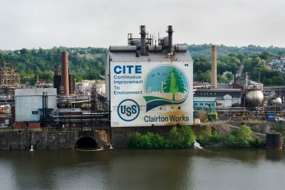 United States Steel Clairton Coke Works, C.I.T.E and Monongahela River, 2013.  LaToya Ruby Frazier, American, born 1982. Archival Pigment Prints printed onto Hahnemuhle, Fine Art Baryta 325 gsm, 42 1/4 x 63 1/8 in.  Image courtesy of Seattle Art Museum.