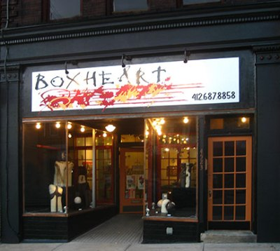 Box Heart Gallery.  Photo courtesy of Nicole Capozzi.