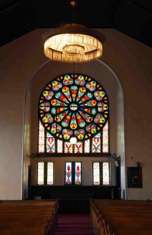 Neu Kirche Interior, Pittsburgh, PA.  Image courtesy of Lee Parker.