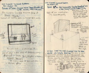 Becky Slemmons (2015) Sketchbook Review of Surround Audience at the New Museum.  Courtesy of the artist.