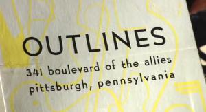 Outlines Gallery exhibition flyer. Film Still. (Image via tracingoutlines.com)