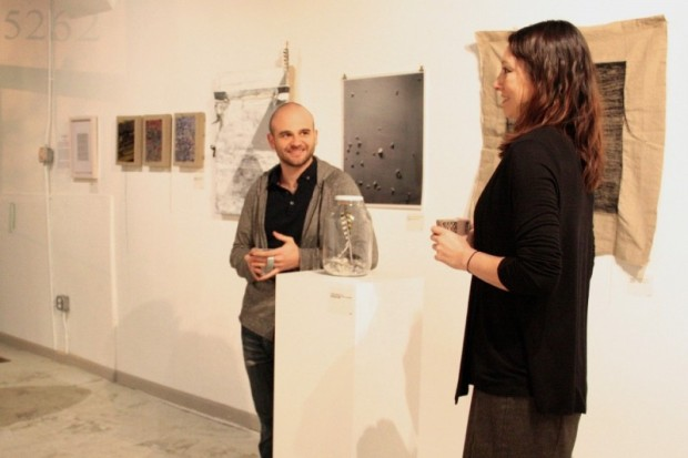 Revision Space founder and director Cindy Lisica (right), with artist Terry Boyd.