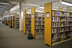 The interior of Holman Library at Green River Community College in Auburn, WA.
