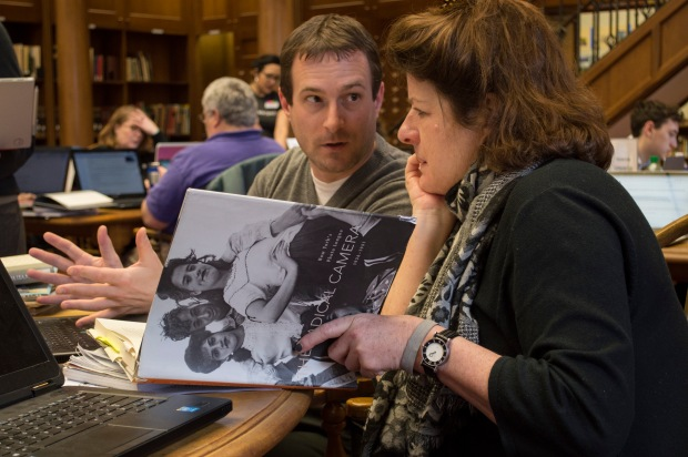 Arts and Feminism Wikipedia Edit-a-thon, Pittsburgh, March 5, 2016. Image courtesy of Julie Kooser.